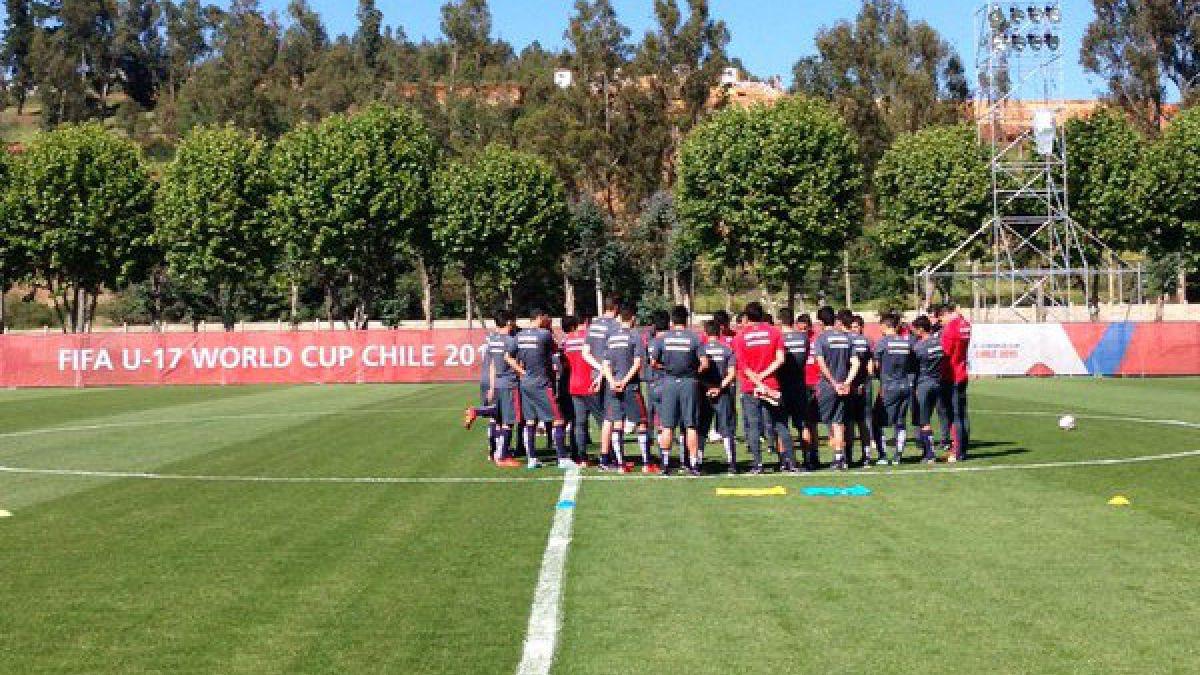 """La """"Roja"""" Sub 17 ya prepara en Viña del Mar el decisivo duelo ante Estados Unidos"""
