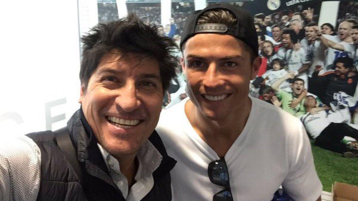 [FOTO] Iván Zamorano comparte con Cristiano Ronaldo durante visita al Real Madrid