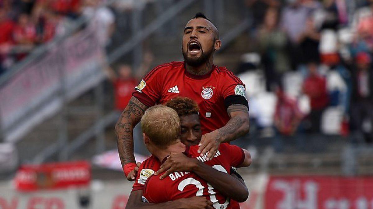 Arturo Vidal anota golazo en triunfo 1.000 de Bayern Munich por la Bundesliga