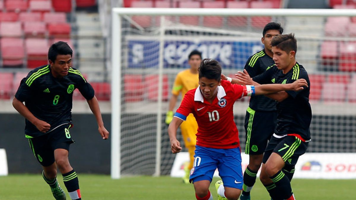 La Roja ya jugó ante México en la antesala del Mundial Sub 17