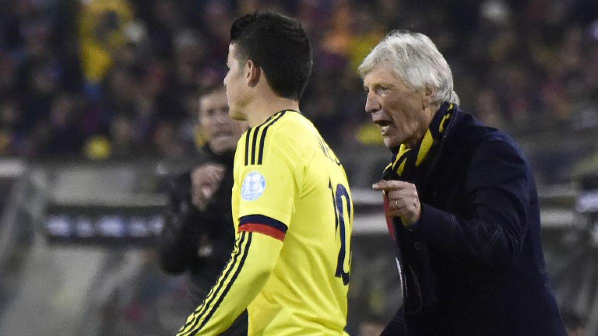 Colombia tiene una baja y dos jugadores en duda para duelo con Chile en Clasificatorias