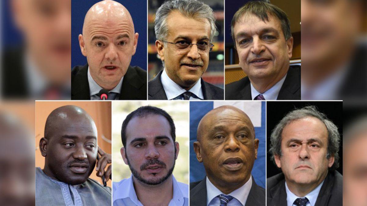 Los siete candidatos oficiales para presidir a la FIFA