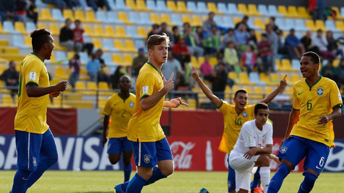 Con penal en la agonía Brasil celebra y está en cuartos del Mundial Sub 17
