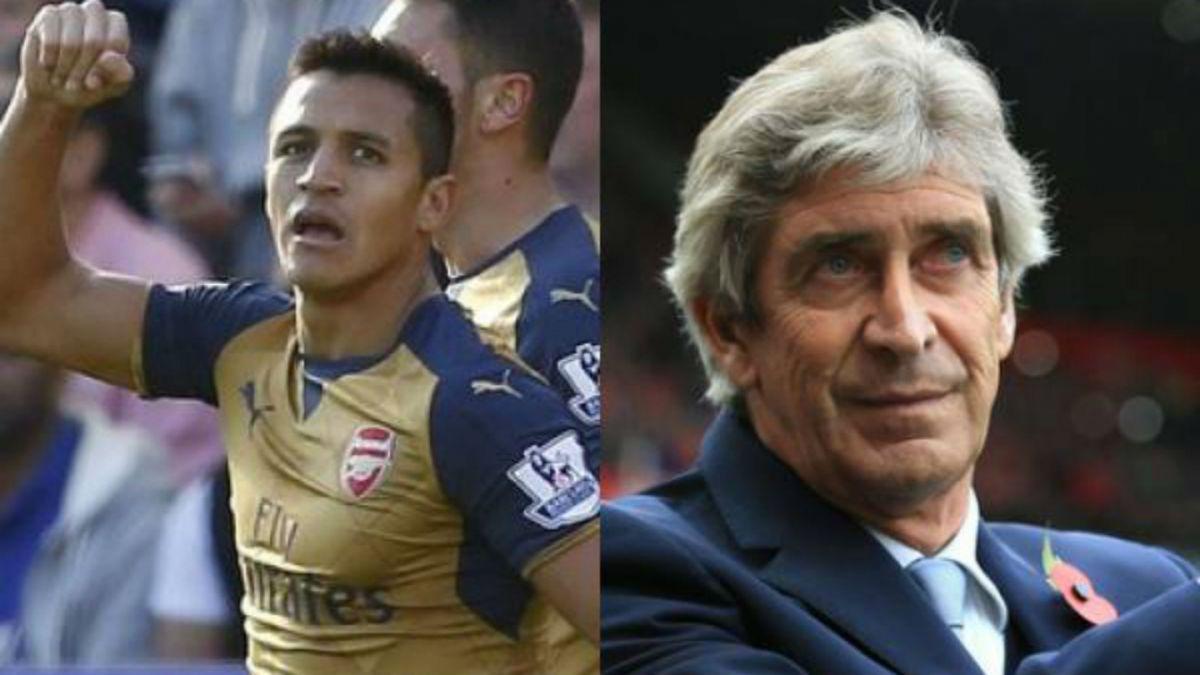 Alexis Sánchez y Manuel Pellegrini triunfan y siguen liderando la Premier League