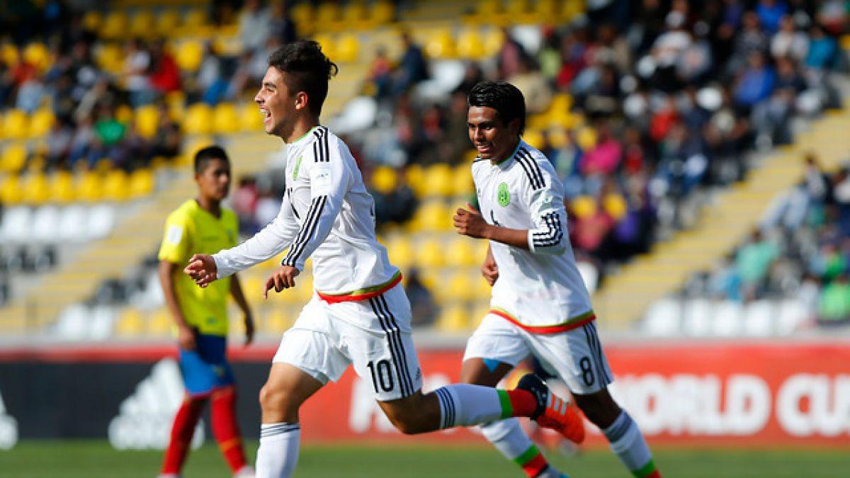México es el 3° semifinalista tras vencer a Ecuador en el Mundial Sub 17