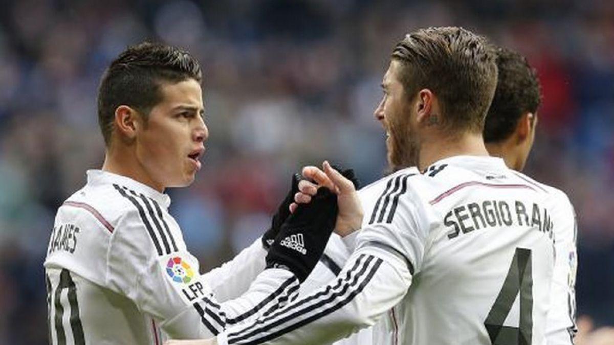 Sergio Ramos censura a James Rodríguez y genera imagen viral