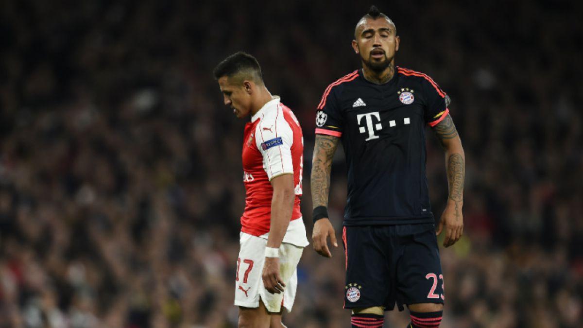 [GOL A GOL] Bayern de Vidal busca revancha ante Arsenal de Alexis