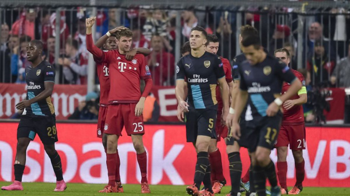 Ahora gana Vidal: Bayern Munich apabulla al Arsenal de Alexis en Champions
