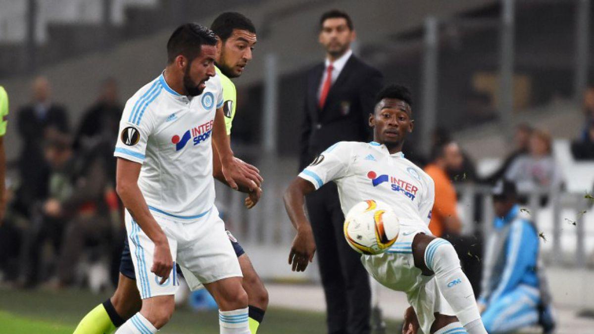 Marsella de Mauricio Isla vence al Braga y sigue con chances de clasificación en Europa League