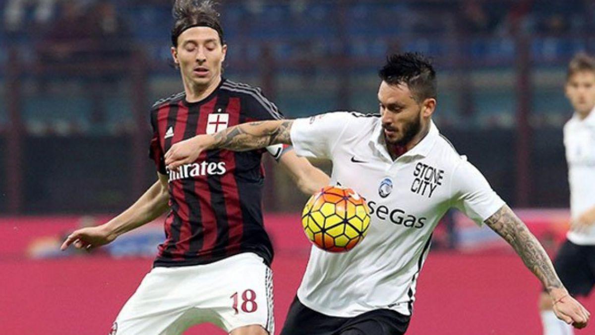 Atalanta con Pinilla y Carmona logra valioso empate ante Milán en Italia