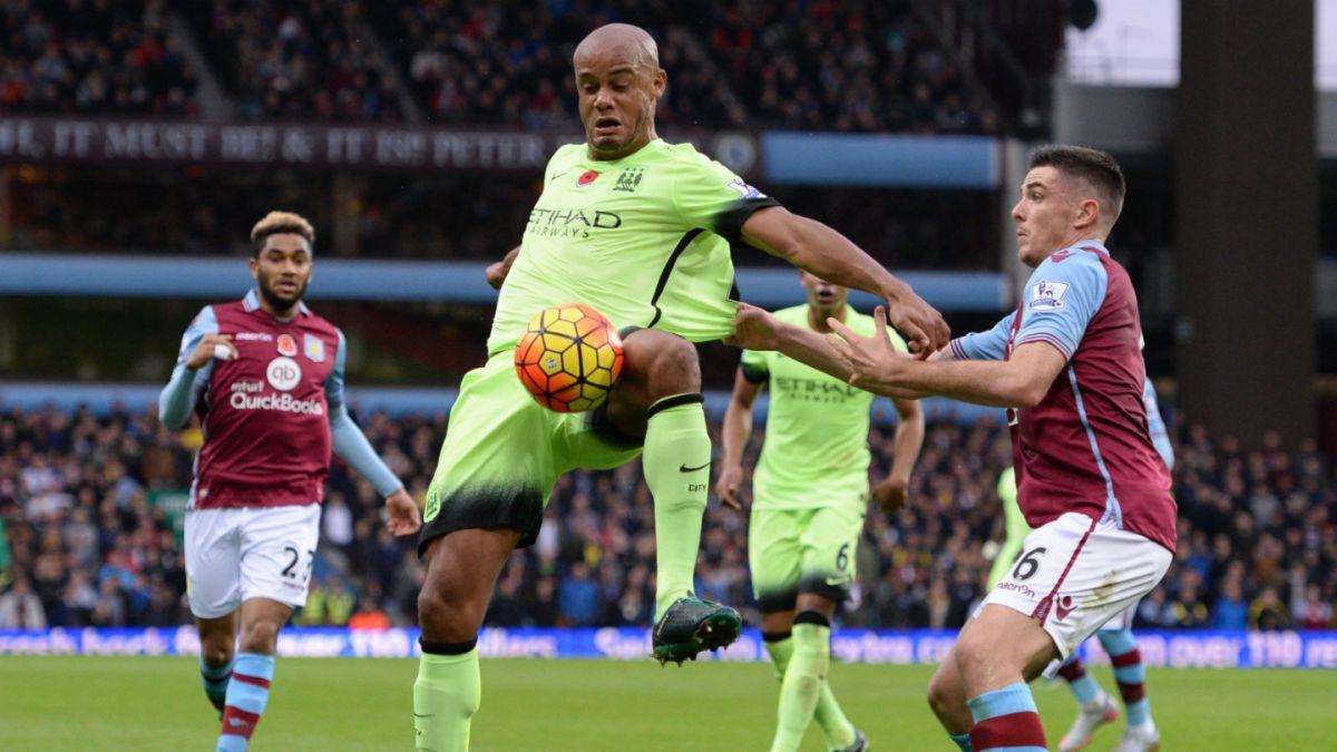 Manchester City empata con Aston Villa y pone en peligro su liderato en la Premier League