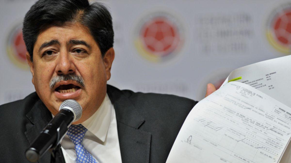 Renuncia el presidente de la Federación Colombiana de Fútbol