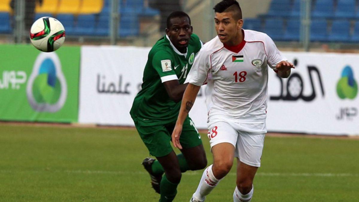 Tres chilenos estuvieron en el empate de Palestina ante Arabia Saudita