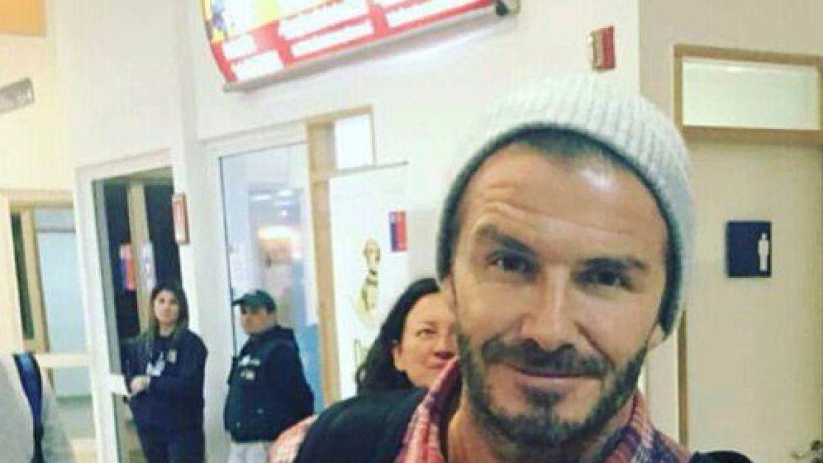 David Beckham está en Chile para filmar documental y jugar partido en la Antártica