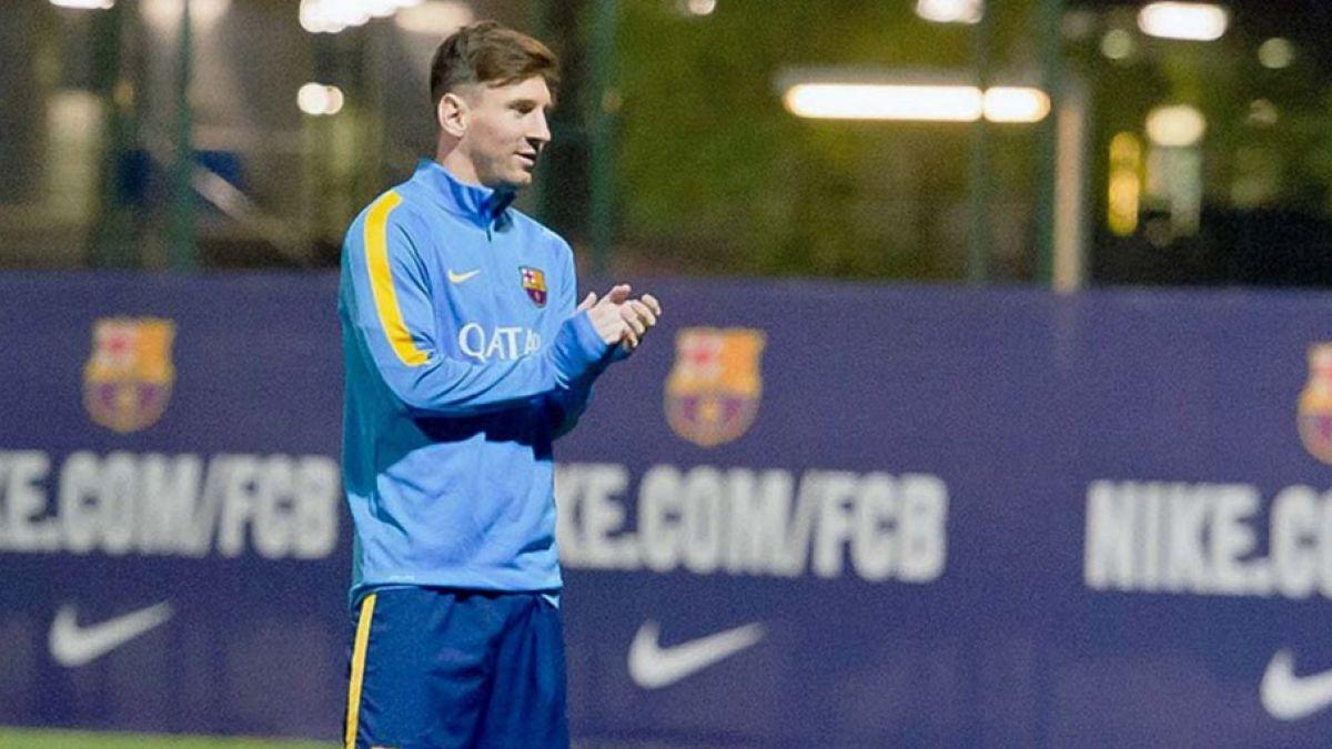 Messi vuelve a los entrenamientos con la mente puesta en el Real Madrid