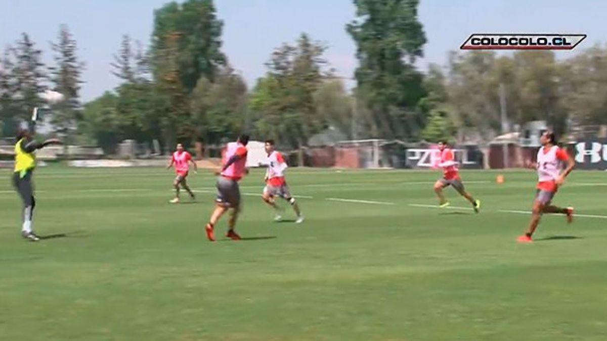 Esteban Paredes se reintegra a Colo Colo y sorprende con golazo en práctica