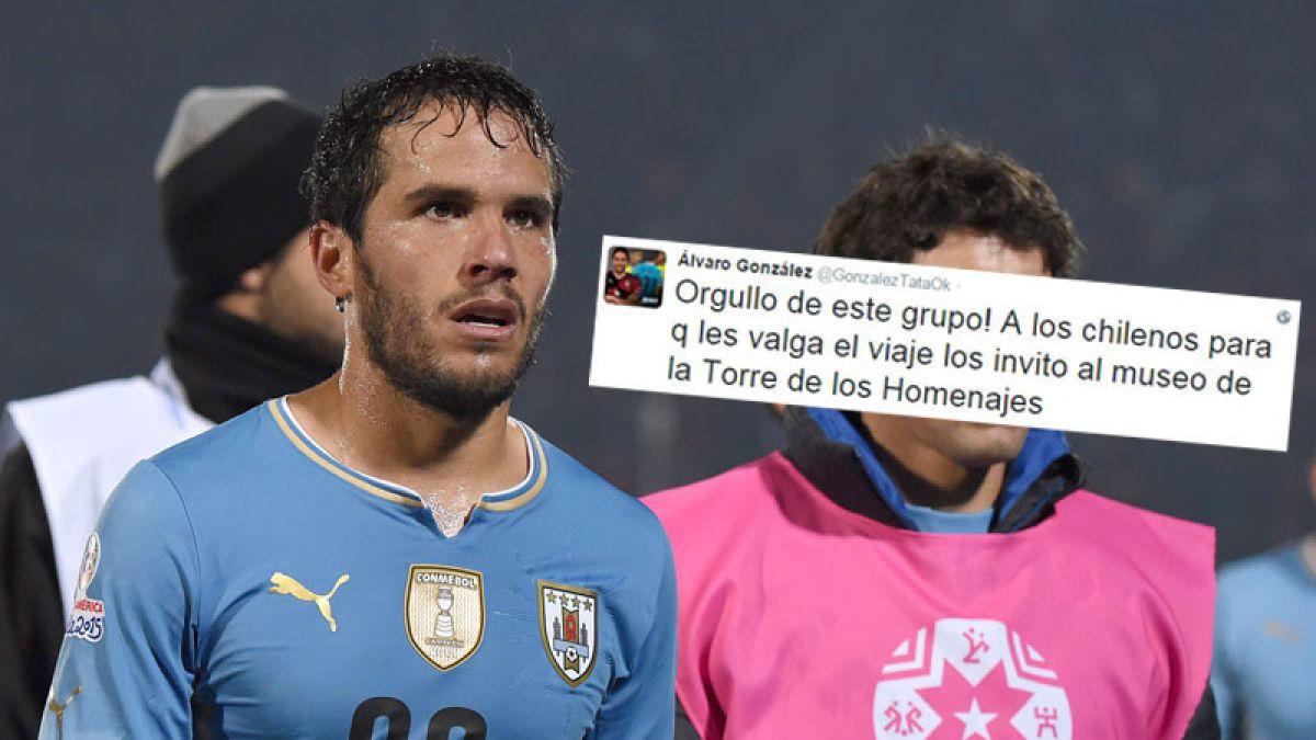 El polémico tuit de seleccionado uruguayo: se burla de los chilenos