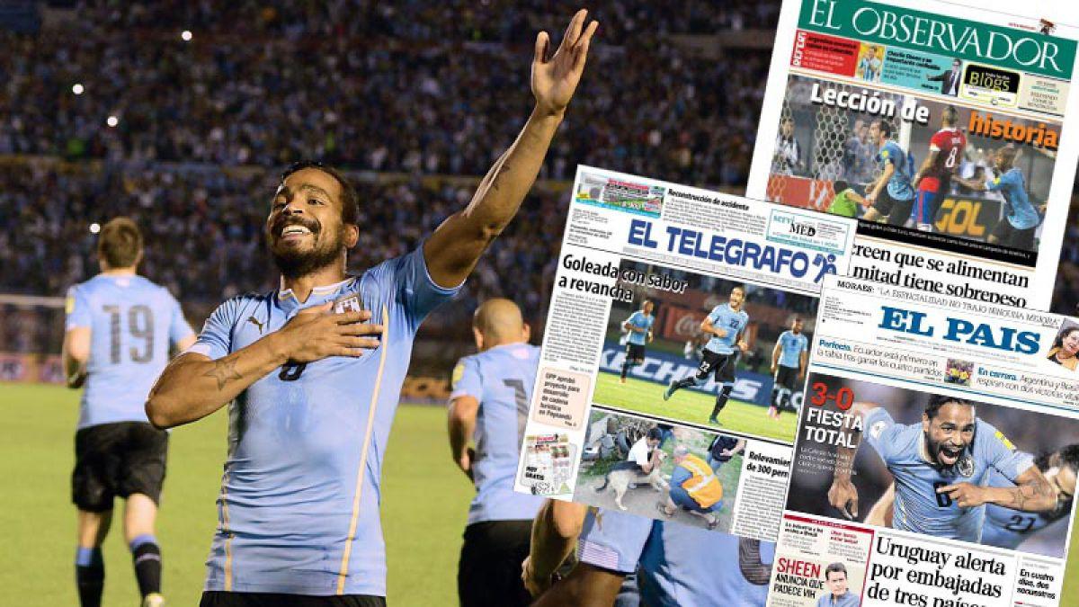 """Las portadas de la prensa uruguaya: """"Goleada con sabor a revancha"""""""
