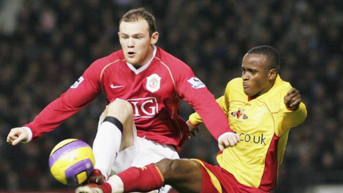 Al Bangura logró ascender con el Watford a la Liga Premier y se enfrentó a Wayne Rooney.