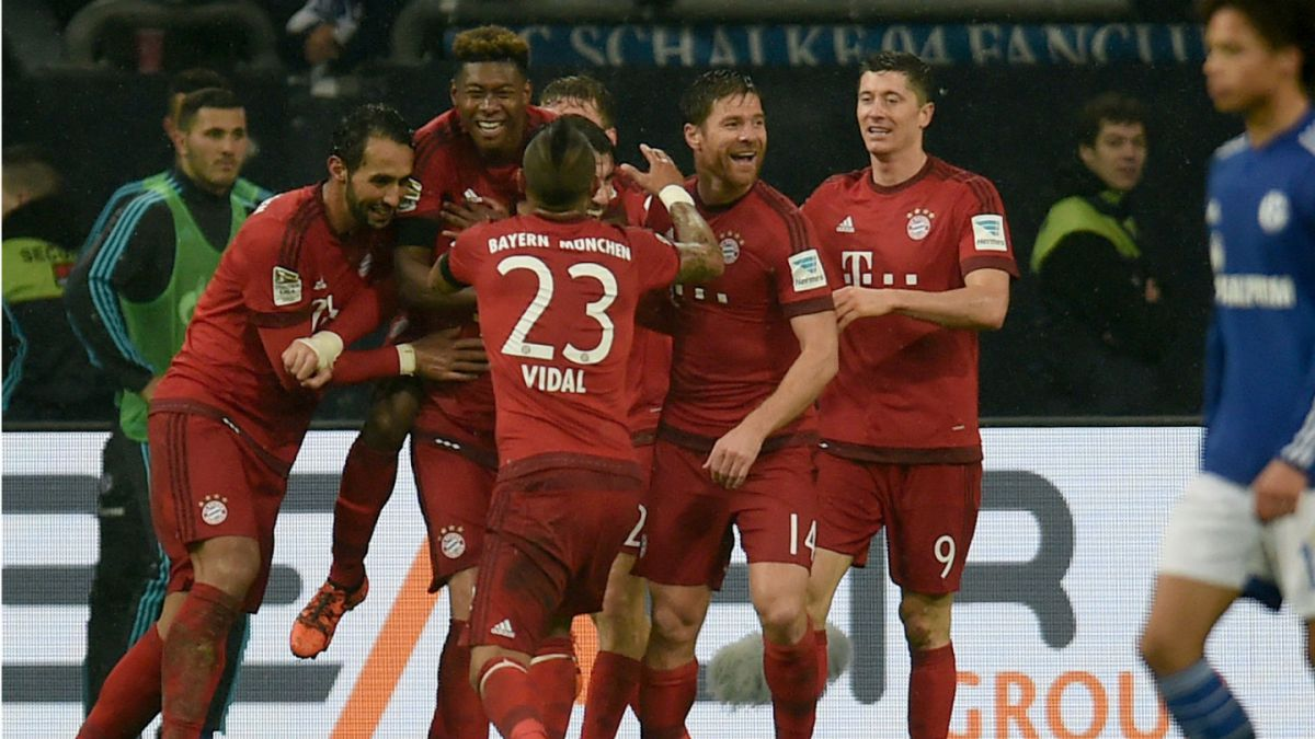 Con Vidal como titular Bayern Munich se impone al Schalke 04 y sigue invicto en la Bundesliga