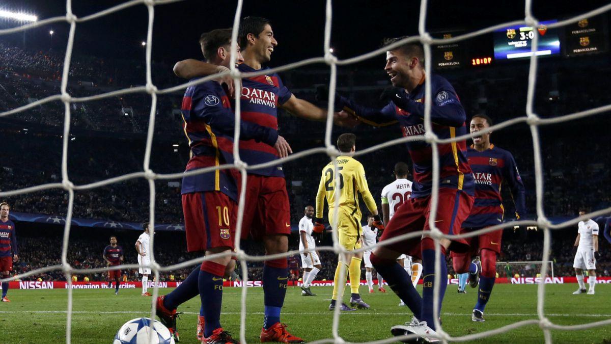 Barcelona con dobletes de Suárez y Messi aplasta a la Roma en Champions