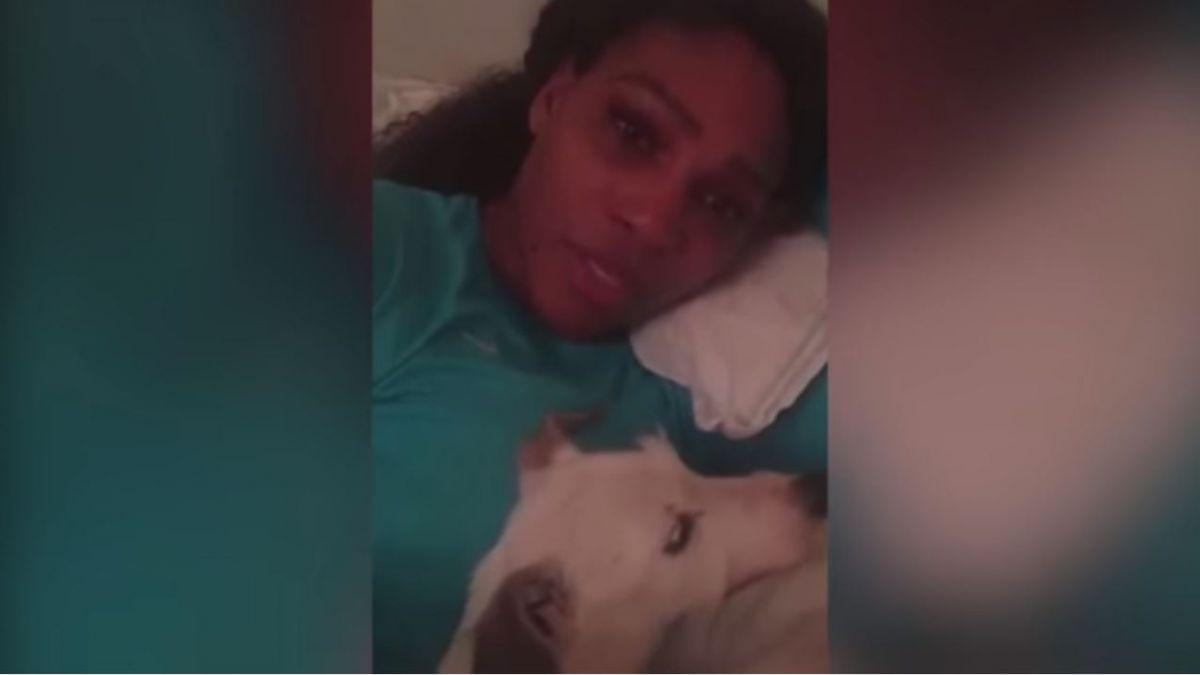 [VIDEO] Serena Williams compartió sus últimos dolorosos momentos con su adorada perrita Jackie