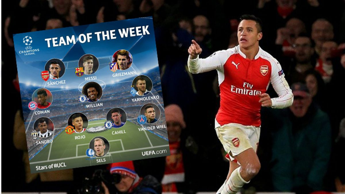 Alexis y 10 más: El chileno en la oncena ideal de la Champions League
