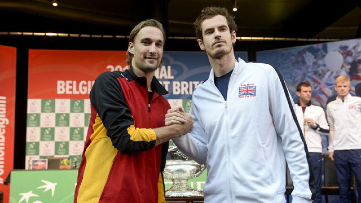 Goffin-Edmund y Murray-Bemelmans abren la final de la Copa Davis