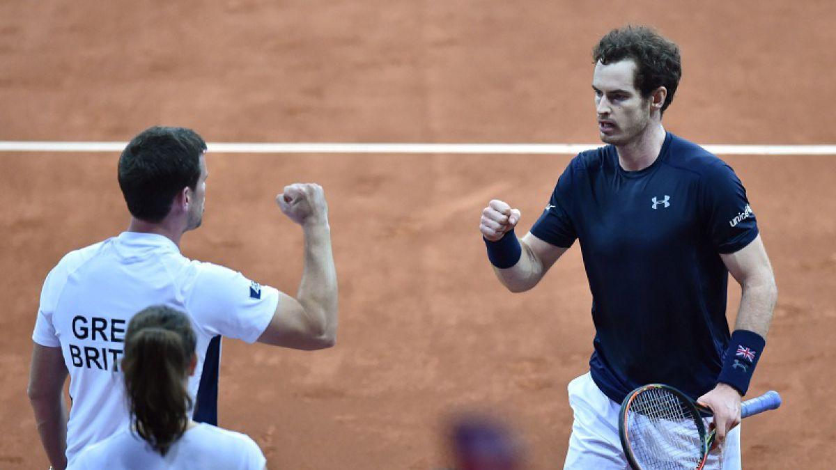 Británico Andy Murray no falla y logra igualar la serie ante Bélgica en Copa Davis