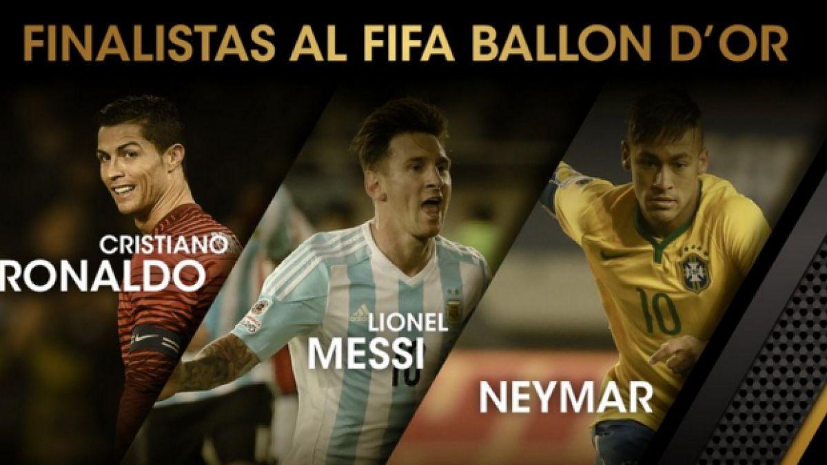 Messi, Cristiano Ronaldo y Neymar son los finalistas del FIFA Balón de Oro 2015