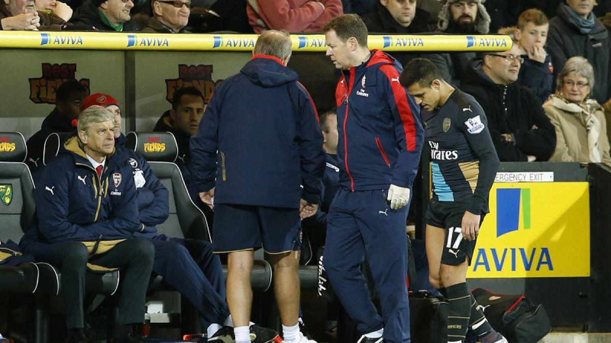 Alexis Sánchez estaría tres semanas fuera de las canchas por lesión muscular