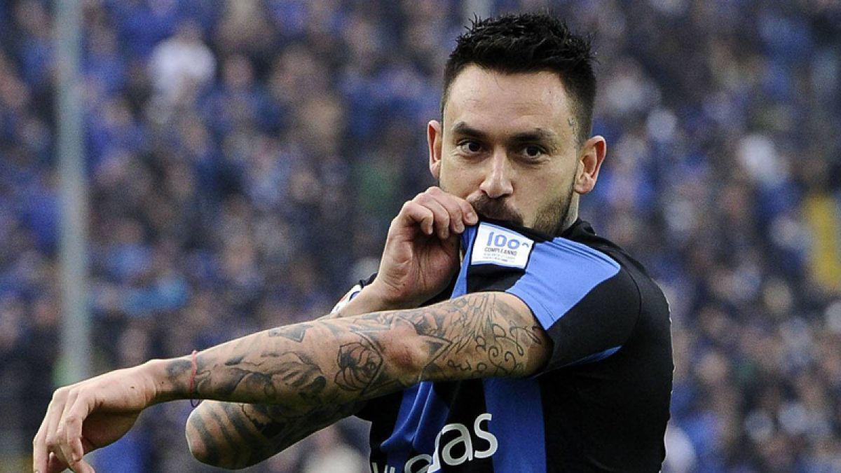 Atalanta iguala ante Carpi con Mauricio Pinilla en cancha