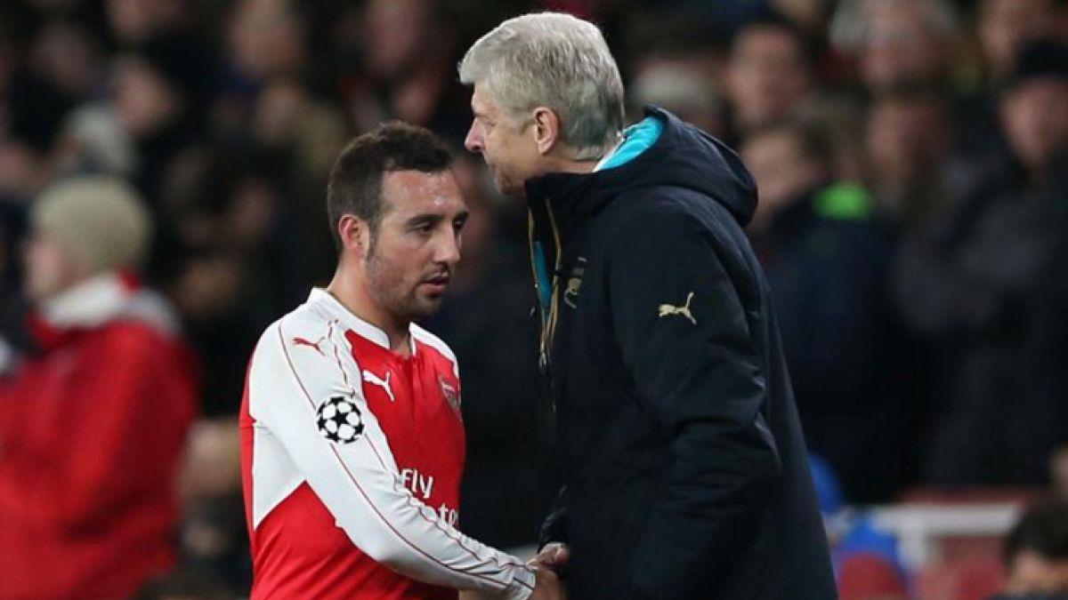 Santi Cazorla será baja durante cuatros meses en Arsenal de Alexis