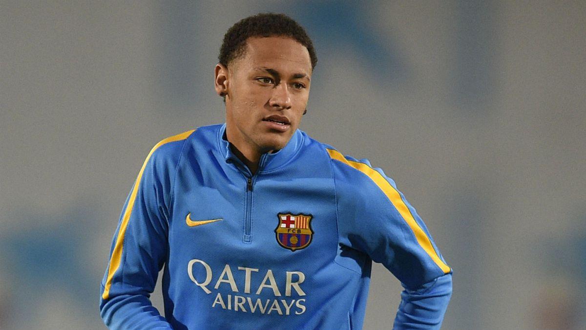 Neymar sufre una lesión muscular en el entrenamiento del Barcelona