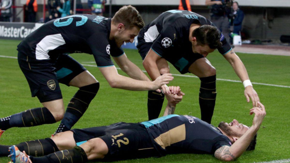 Arsenal FC vence a Olympiacos en Grecia y clasifica a los octavos de final de la Champions