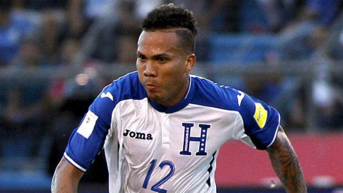 El futbolista hondureño formó parte de la selección de su país que participó del último Mundial de fútbol.