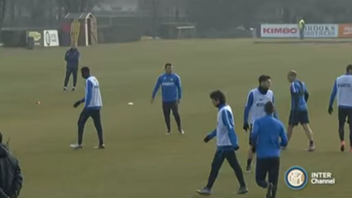 [VIDEO] Gary Medel se anota con golazo en entrenamiento del Inter