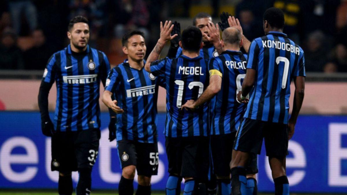 Gary Medel sufre corte en su cabeza en goleada del Inter por Copa Italia