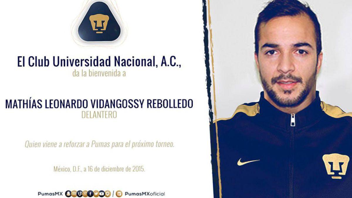 Su decimotercer equipo: Mathías Vidangossy tiene nuevo club en México
