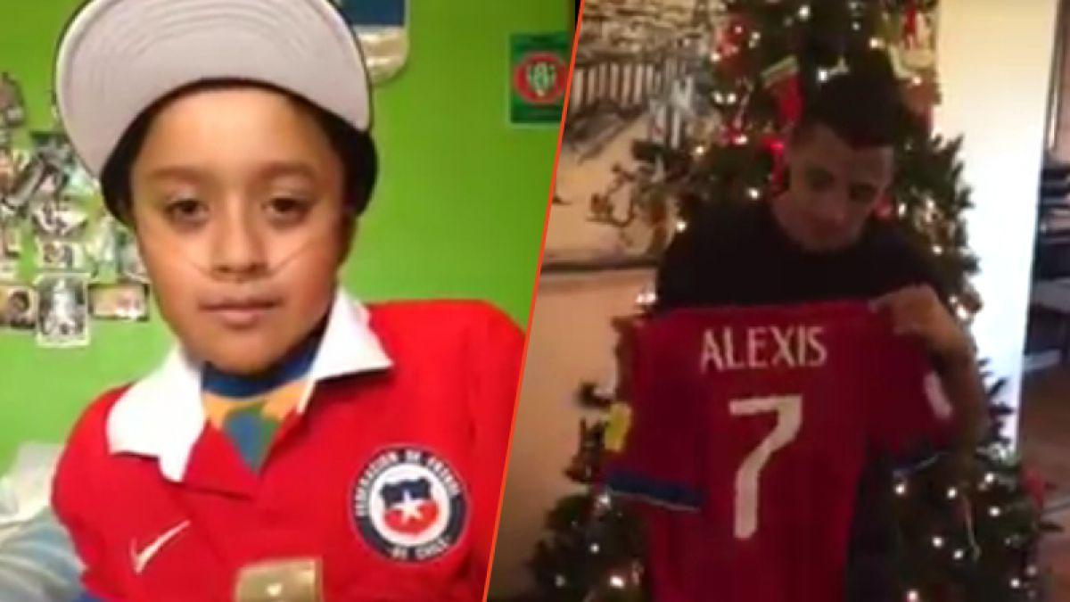 Crack también fuera de la cancha: Alexis cumple el deseo del pequeño Guillermo