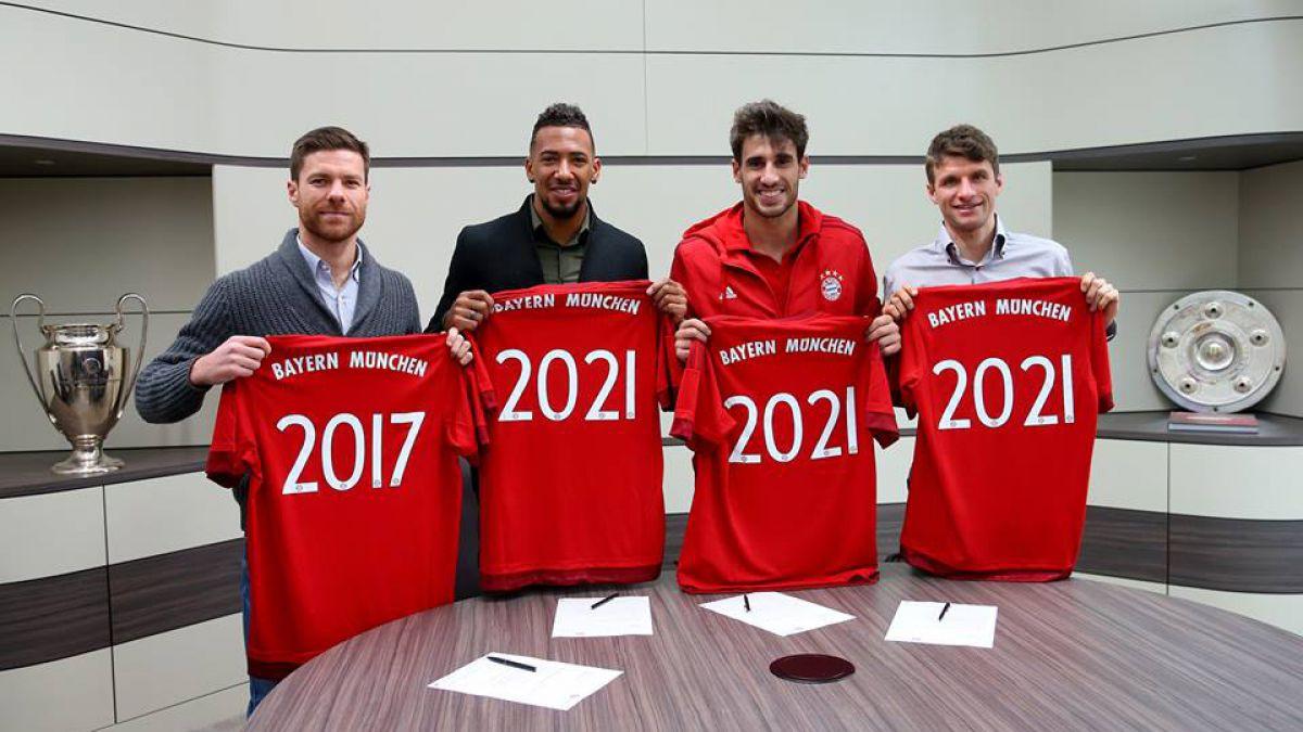 Bayern Munich asegura la continuidad de cuatro de sus figuras