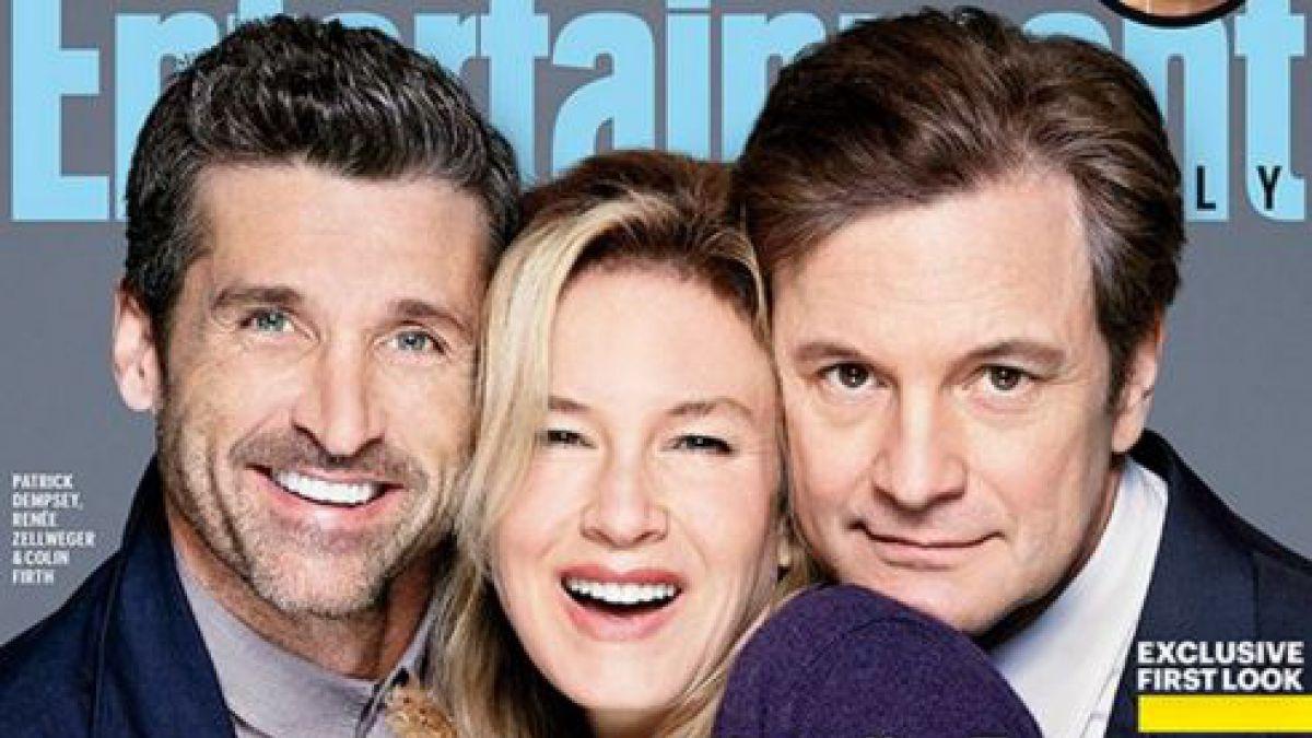 Protagonistas de la tercera parte de El diario de Bridget Jones se unen en adorable portada
