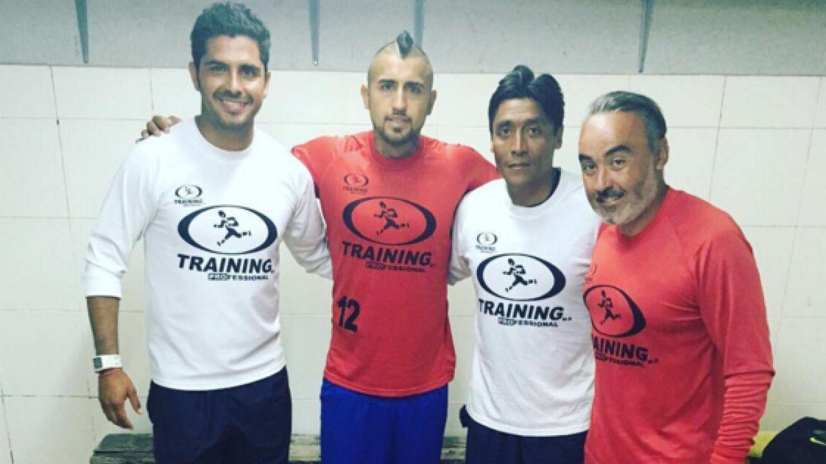 Arturo Vidal no descansa ni en vacaciones: entrena con plantel de Unión La Calera