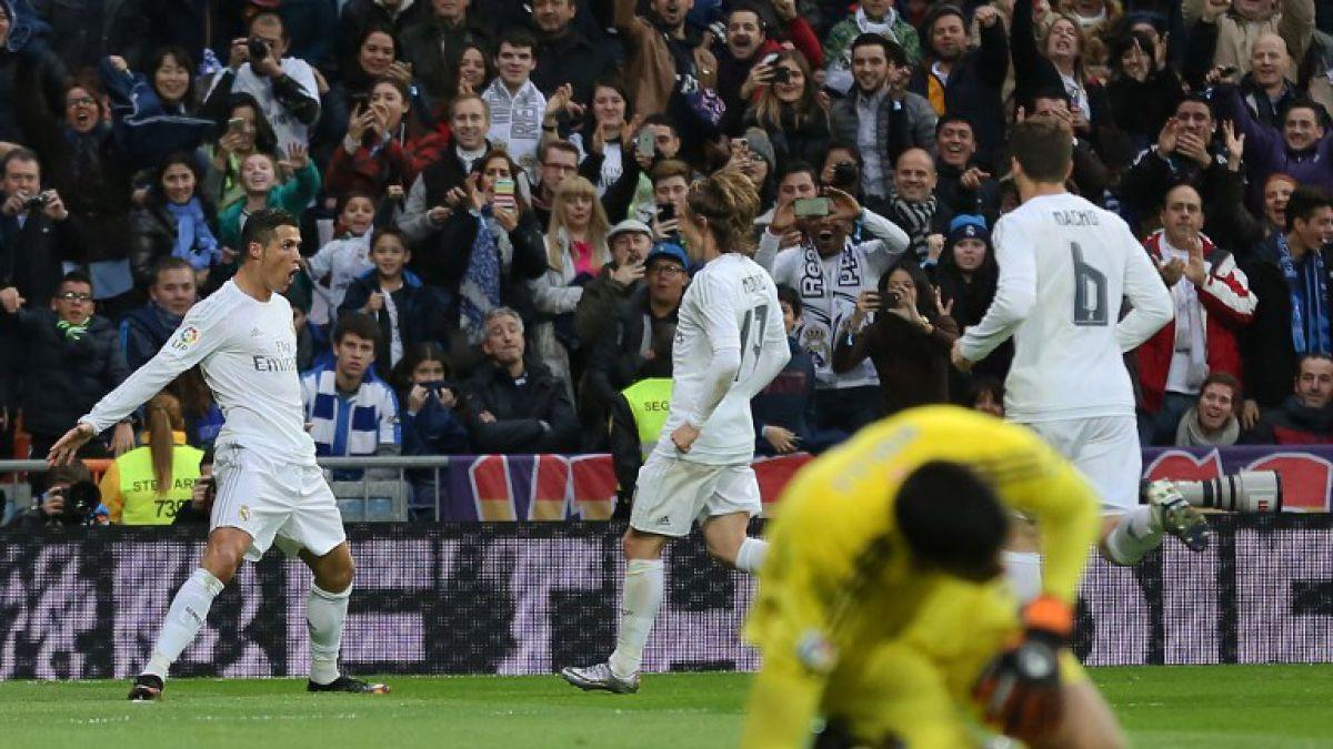 Deslucido Real Madrid vence en casa con goles de Cristiano Ronaldo y por ahora es líder