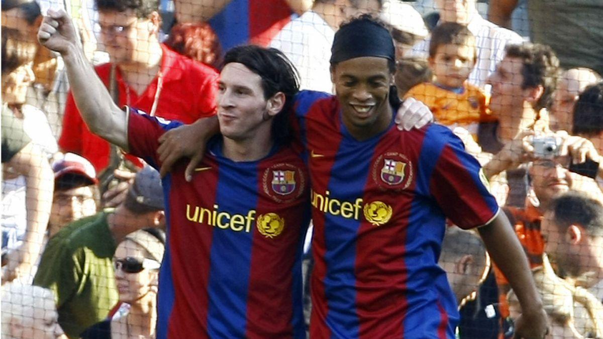 Una relación de cracks: La amistad entre Ronaldinho y Lionel Messi