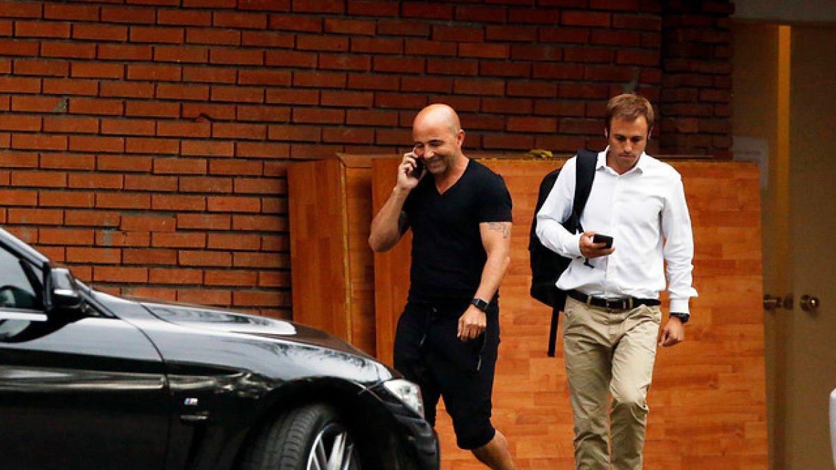 """Arturo Salah tras primera reunión con Sampaoli: """"Fue una cita muy constructiva"""""""