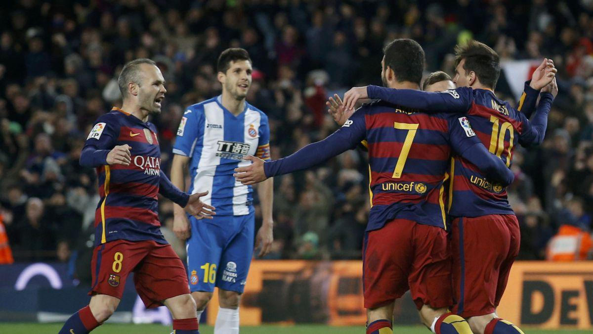 Barcelona sin Claudio Bravo golea al Espanyol en octavos de final de la Copa del Rey