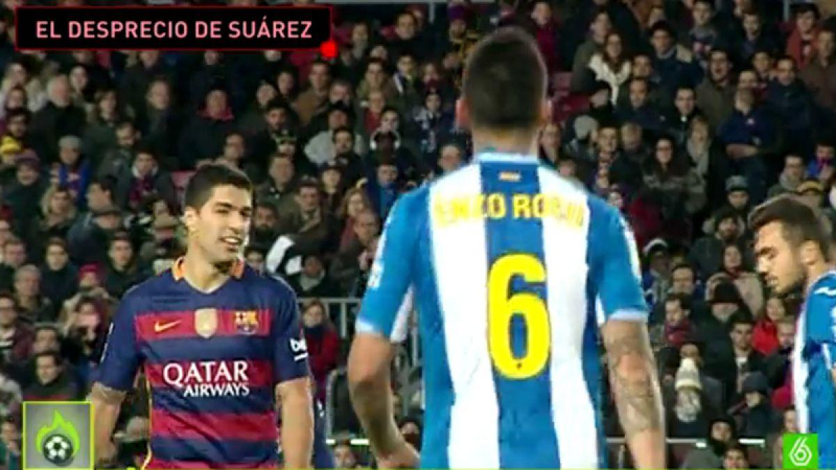 El menosprecio de Luis Suárez a Enzo Roco: ¡Juega! ¡No sabes jugar!