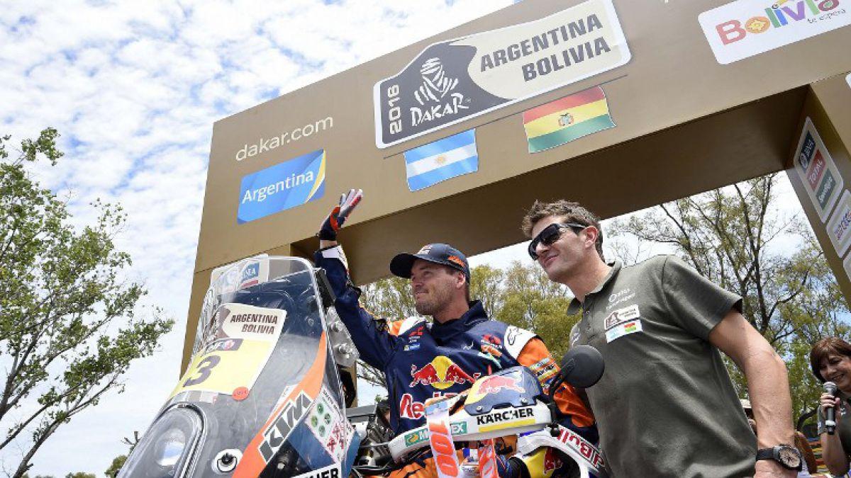 Price gana la quinta etapa en motos del Dakar 2016 que llega a Bolivia