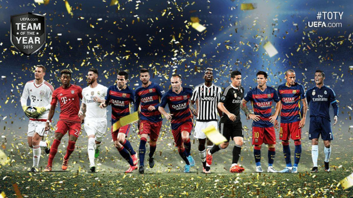 Sin Vidal ni Sánchez: Este es el once ideal de la UEFA 2015